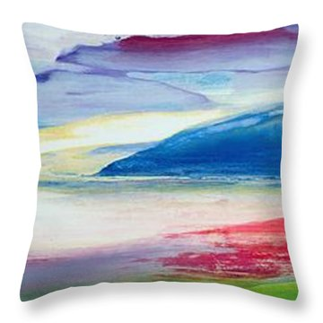 Abstract Composition Throw Pillow by Lou Gibbs