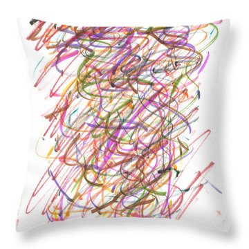 Abstract Confetti Celebration Throw Pillow by Joseph Baril