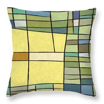 Abstract Cubist Throw Pillow by Gary Grayson