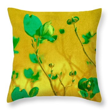 Abstract Dogwood Throw Pillow by Bonnie Bruno