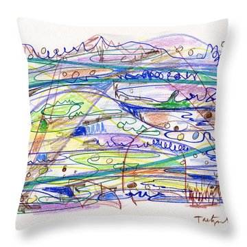 Abstract Drawing Eleven Throw Pillow by Lynne Taetzsch