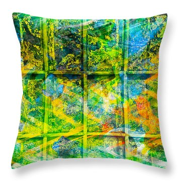 Abstract  - Emotion - Trapped Throw Pillow by Barbara Griffin