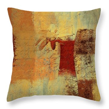 Abstract Floral - 14v4i-t2b2 Throw Pillow by Variance Collections