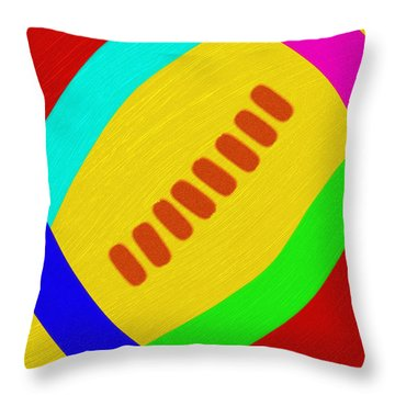 Abstract Football Throw Pillow by Andee Design
