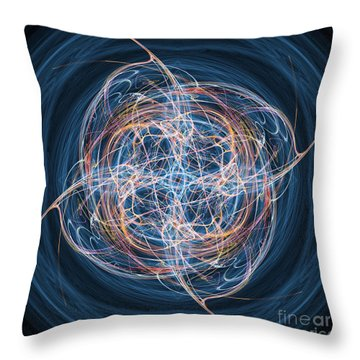 Abstract Fractal Background 08 Throw Pillow by Antony McAulay
