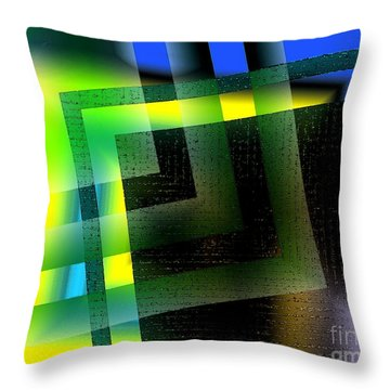 Abstract Geometry With Effects And Transparency Throw Pillow by Mario Perez