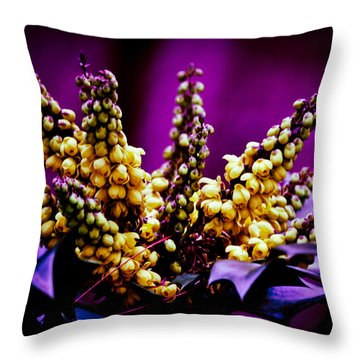 Abstract Holly Throw Pillow by Mary Zeman