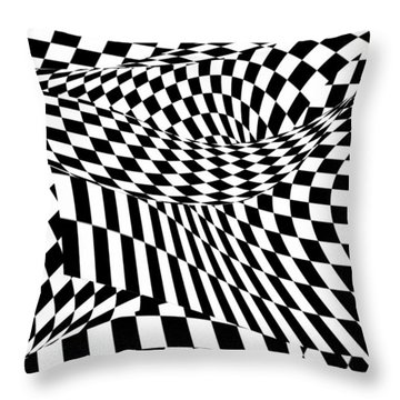 Abstract - Ow My Eyes Throw Pillow by Mike Savad
