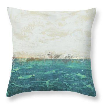 Abstract Seascape 02/14a Throw Pillow by Filippo B