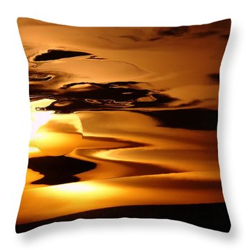 Abstract Sunrise Throw Pillow by Jeff Swan