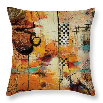 Abstract Tarot Art 010 Throw Pillow by Corporate Art Task Force