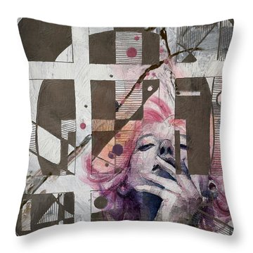 Abstract Woman 001 Throw Pillow by Corporate Art Task Force