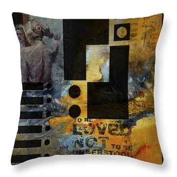 Abstract Women 006 Throw Pillow by Corporate Art Task Force