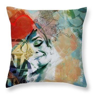 Abstract Women 008 Throw Pillow by Corporate Art Task Force