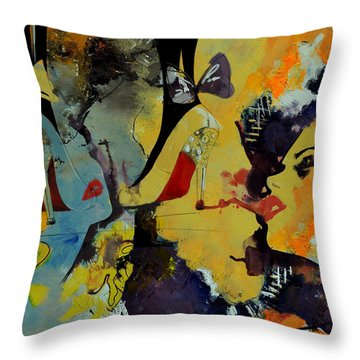 Abstract Women 010 Throw Pillow by Corporate Art Task Force
