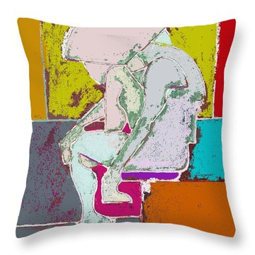 Abstraction 113 Throw Pillow by Patrick J Murphy