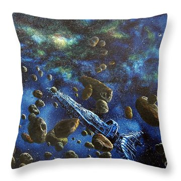 Accidental Asteroid Throw Pillow by Murphy Elliott