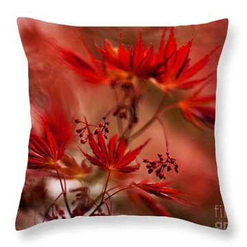 Acer Storm Throw Pillow by Mike Reid