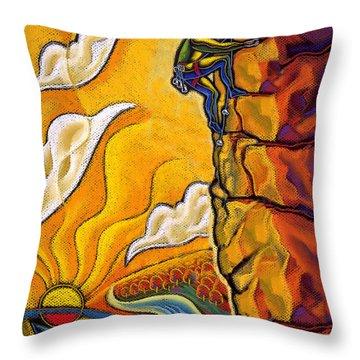 Achievement Throw Pillow by Leon Zernitsky