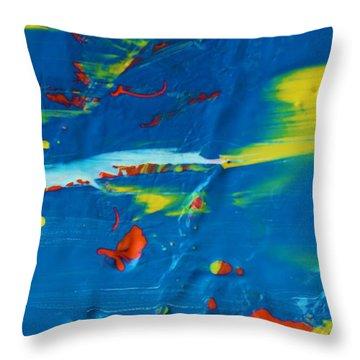 Acrylic Seas Throw Pillow by Artist Ai