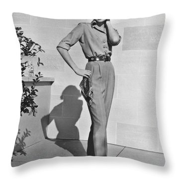 Actress Grace Kelly Throw Pillow by Underwood Archives