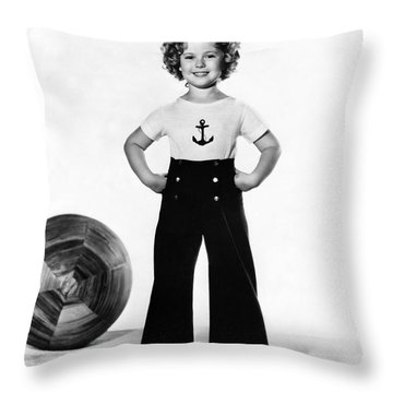 Actress Shirley Temple Throw Pillow by Underwood Archives