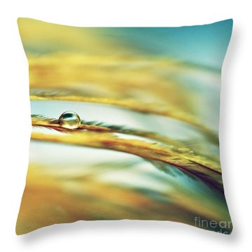 Adopt The Pace Of Nature- Feather Photograph Throw Pillow by Sylvia Cook
