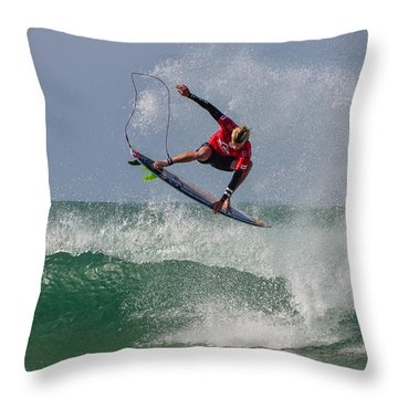 Throw Pillow featuring the photograph Aerial 1 by Thierry Bouriat