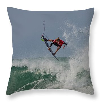Throw Pillow featuring the photograph Aerial 2 by Thierry Bouriat