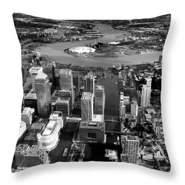Aerial View Of London 5 Throw Pillow by Mark Rogan