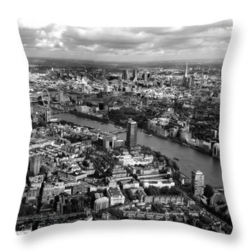 Aerial View Of London Throw Pillow by Mark Rogan