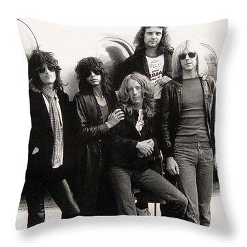 Aerosmith - Eurofest Jet 1977 Throw Pillow by Epic Rights