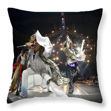 Aerosmith - On Stage 2012 Throw Pillow by Epic Rights
