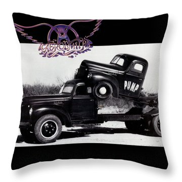 Aerosmith - Pump 1989 Throw Pillow by Epic Rights