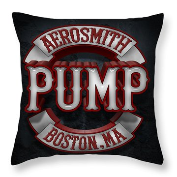Aerosmith - Pump Throw Pillow by Epic Rights
