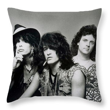 Aerosmith - What It Takes 1980s Throw Pillow by Epic Rights