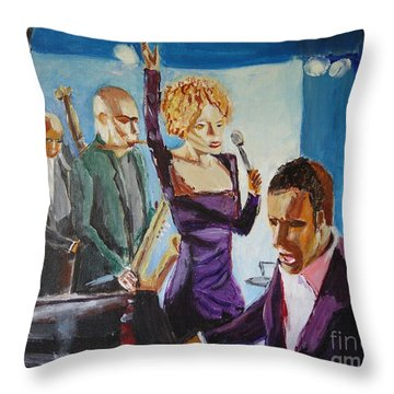 After Hours Throw Pillow by Judy Kay