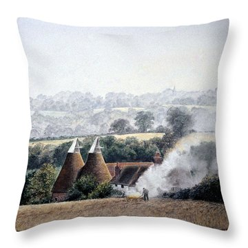 After The Harvest Throw Pillow by Rosemary Colyer