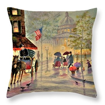 After The Rain Throw Pillow by Marilyn Smith