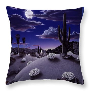 After The Rain Throw Pillow by Snake Jagger