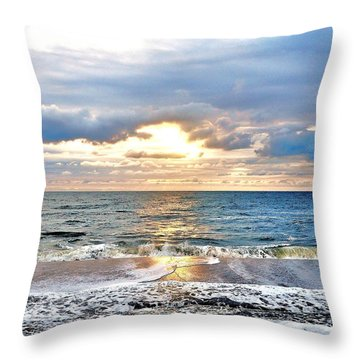 After The Storm 3 Throw Pillow by Kim Bemis