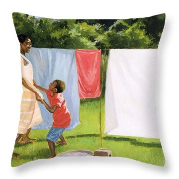 Afternoon Break Throw Pillow by Colin Bootman