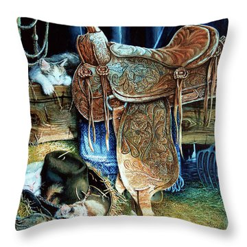 Afternoon Delight Throw Pillow by Hanne Lore Koehler