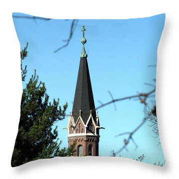 Against The Sky Throw Pillow by Joseph Yarbrough