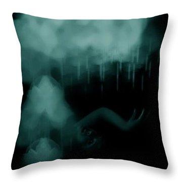 Agitation Throw Pillow by Jessica Shelton