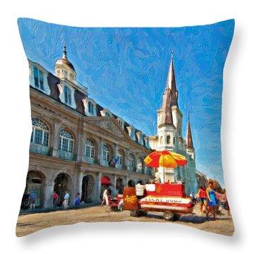 Ahh...new Orleans Impasto Throw Pillow by Steve Harrington