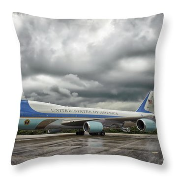 Air Force One Throw Pillow by Mountain Dreams