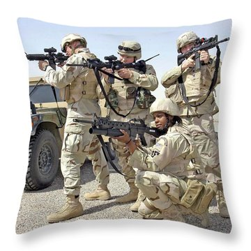 Throw Pillow featuring the photograph Air Force Squadron by Science Source