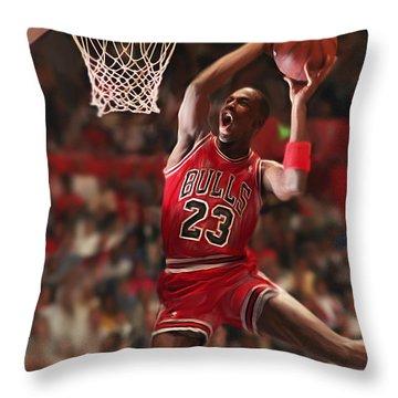 Air Jordan Throw Pillow by Mark Spears