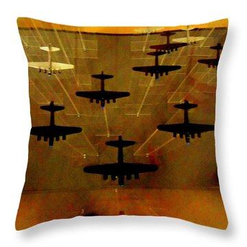 Air War Throw Pillow by Randall Weidner